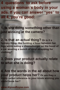 4 rules to avoid sexist ads